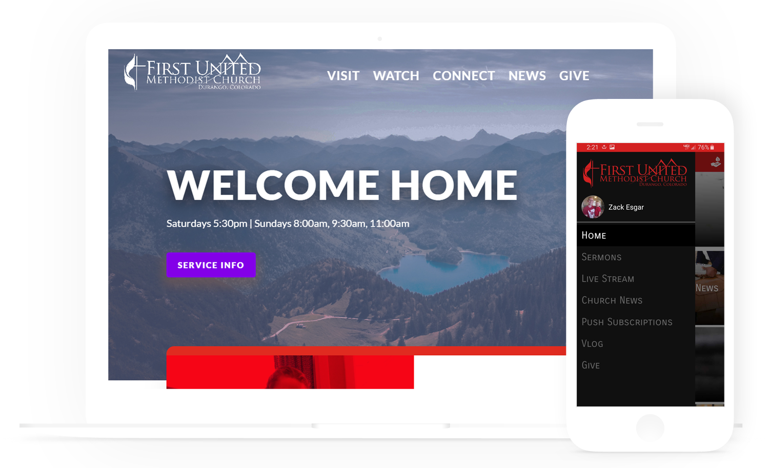 Church Websites and Mobile Apps - Church Communication Tool